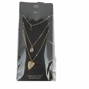 Area Stars Necklaces Brass 14K Gold Plated